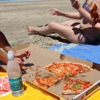 Mittagessen am Takapuna Beach