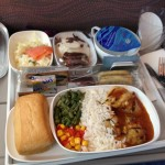 Mittagessen im Flugzeug