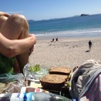 Frühstück am Hahei Beach