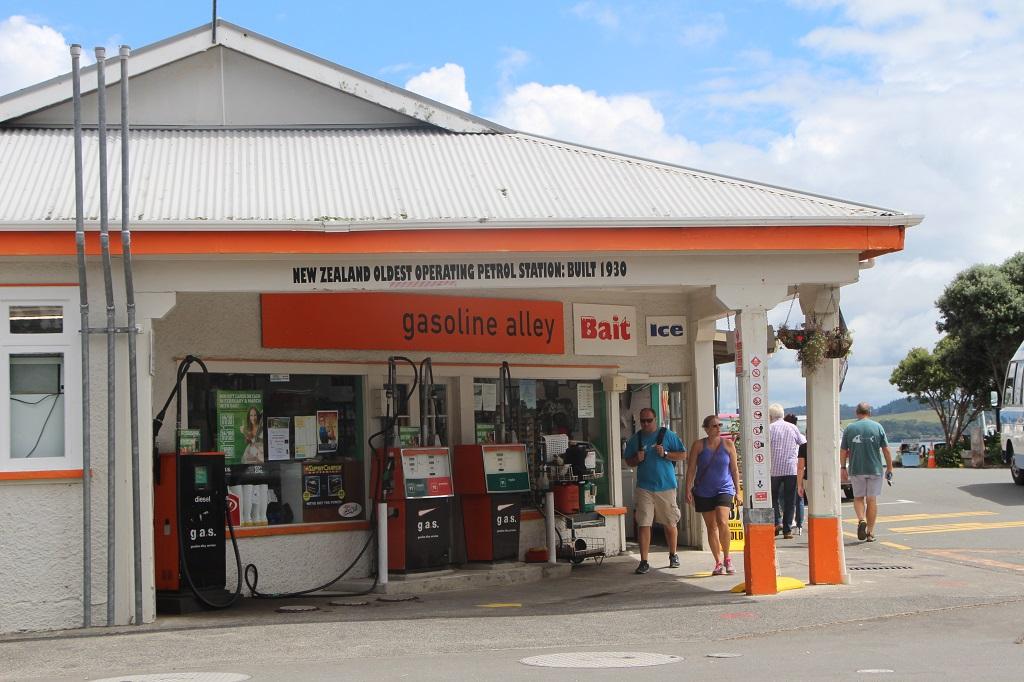 Neuseelands älteste Tankstelle