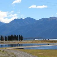 Rückblick zum Lake Te Anau