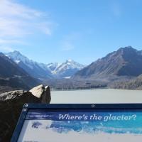 Wo ist der Gletscher?