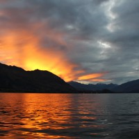 Sonnenuntergang in Wanaka